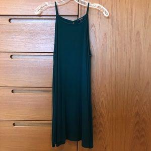 Ribbed High Neck Dress